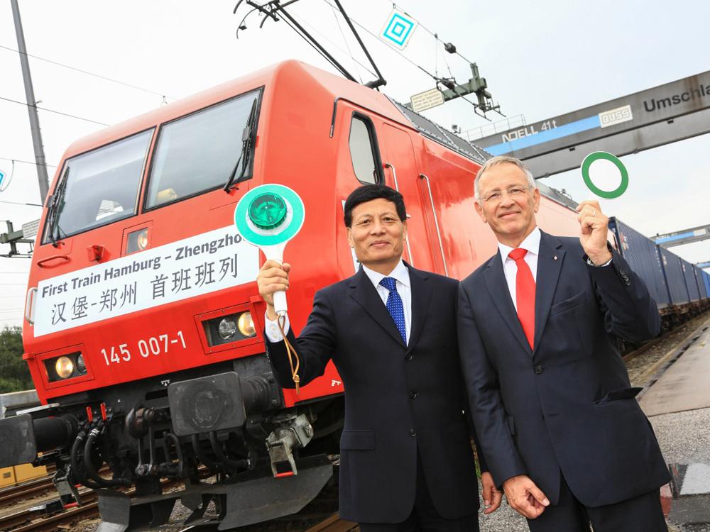 DB Schenker startet ersten Güterzug von Hamburg nach Zhengzhou in Zentralchina