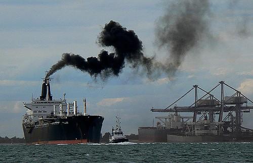 Poluição transporte marítimo