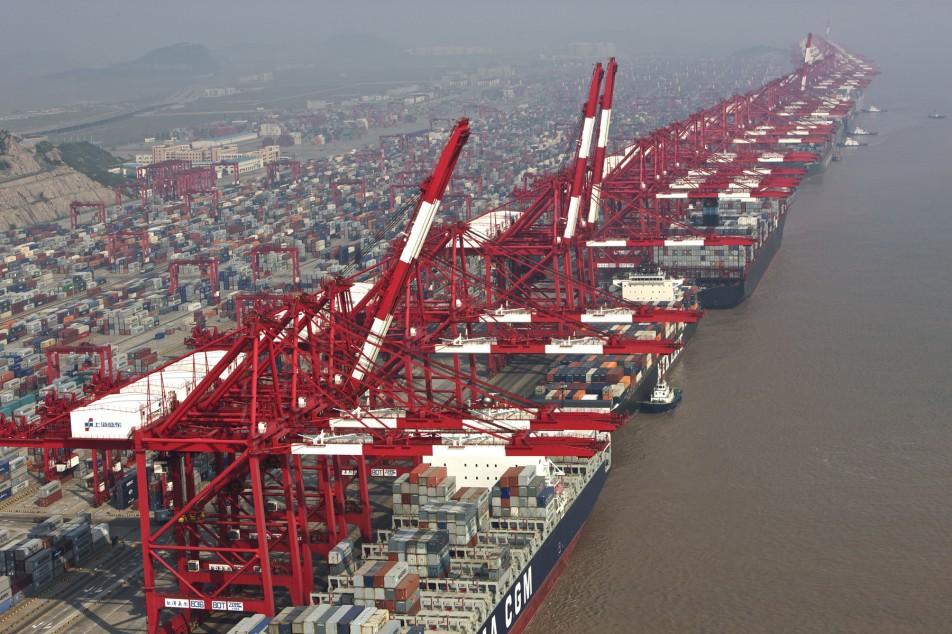 Porto de Xangai - Contentores