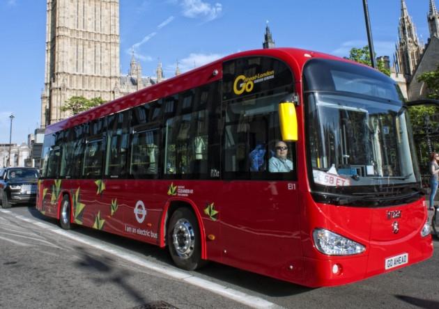 Londres - autocarro eléctrico-2