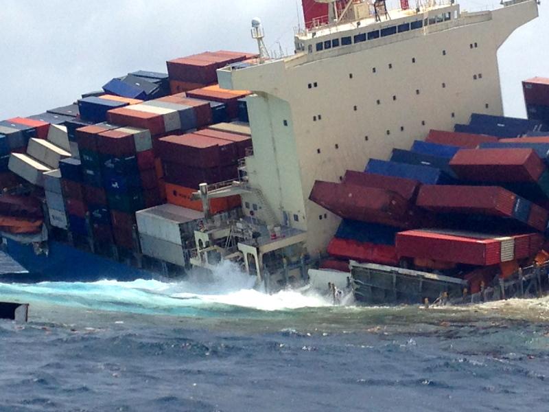 contentores - acidente - navios - MOL Comfort