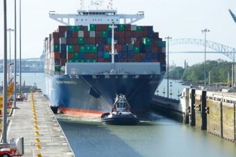 Canal do Panamá recebe navio de 14855 TEU