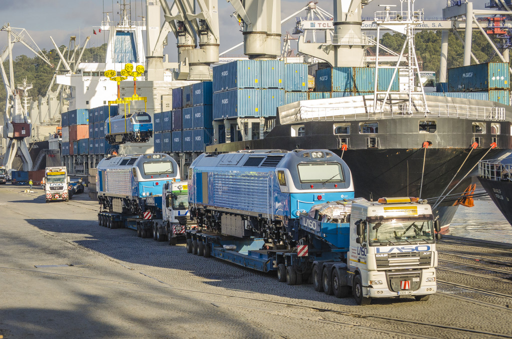 Leixões - Exportação de locomotivas