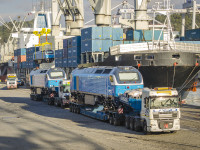Leixões exporta locomotivas espanholas