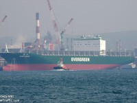 Evergreen baptizou 27.º navio de 8000 TEU