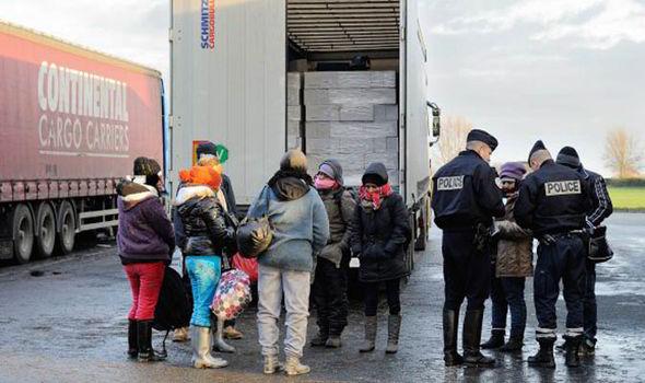 Camiões em Calais