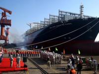 CMA CGM Vasco da Gama baptizado na China