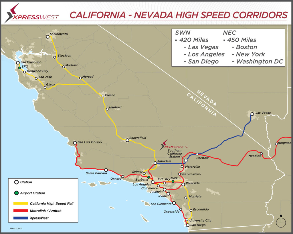 CA-NV High Speed Corridors