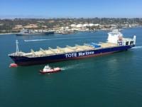 TOTE Maritime recebe primeiro porta-contentores a GNL