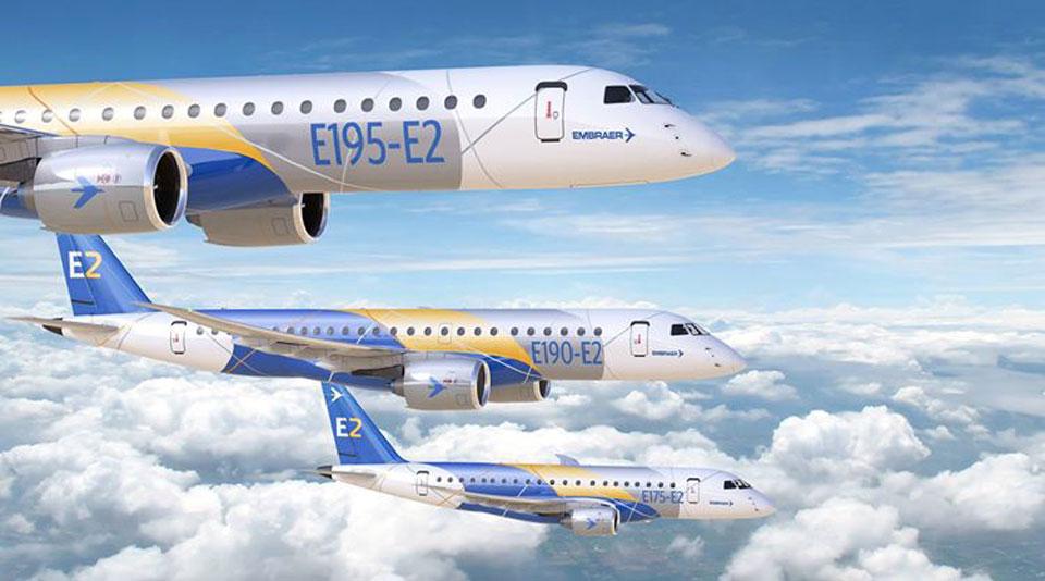 Embraer passou de lucros a prejuízos