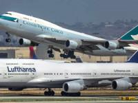 Lufthansa Cargo e Cathay Pacific Cargo juntas em Frankfurt