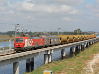 Comboio para o porto de Aveiro retira 50 camiões da estrada