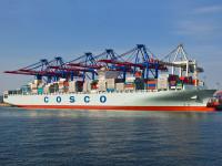 Cosco tem encomendados 11 navios de mais de 20 000 TEU
