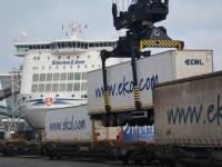 Comboio liga portos de Kiel e Trieste