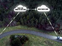 Camiões e ligeiros Volvo conectados em estrada