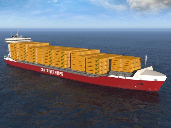 Containerships eleva para seis navio