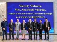 Ministra do Mar tenta atrair a Cosco para Sines