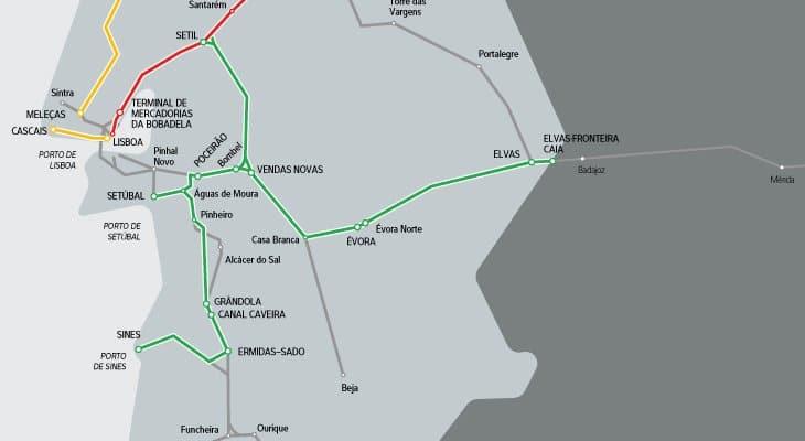 Linha de Évora integra Corredor Internacional Sul