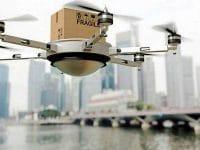 Singapura testa drones nas entregas a navios