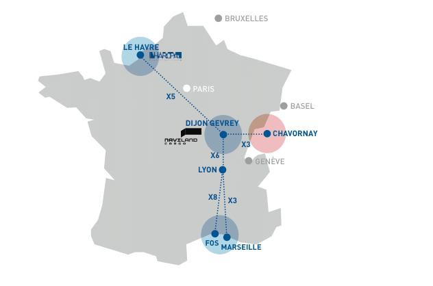 Portos franceses lançam serviço ferroviário