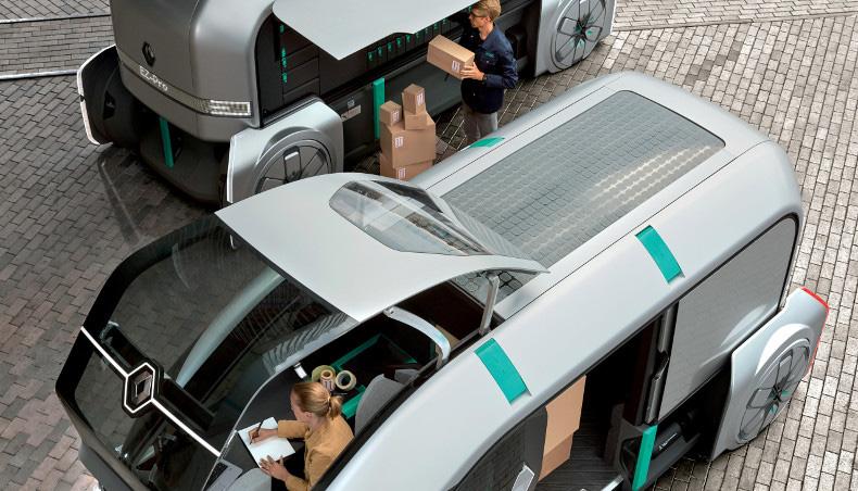 EZ-PRO da Renault é 100% eléctrico e autónomo