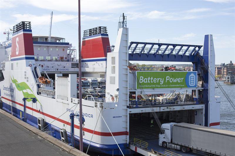 Stena Line testa uso de baterias em navio