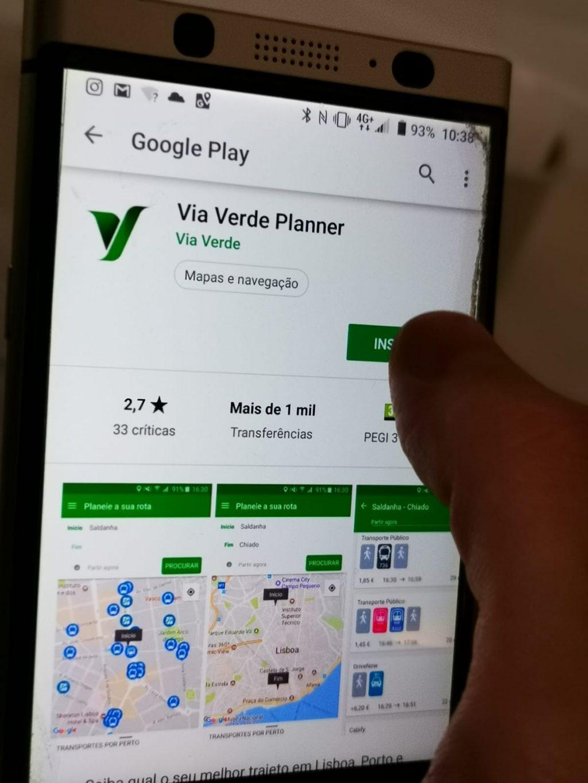 Via Verde Planner da Brisa disponível no Grande Porto