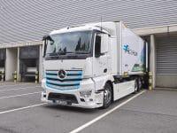 Mercedes eActros já em testes reais