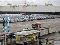Greve dos estivadores trama exportações