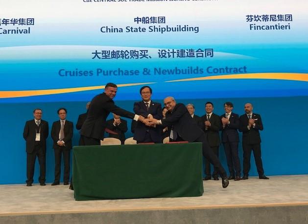 Fincantieri vai construir dois navios para a JV Carnival-CSSC