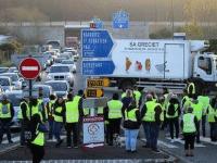 Centenas de camionistas portugueses parados em França