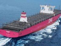 ONE adiciona quinto navio magenta à frota