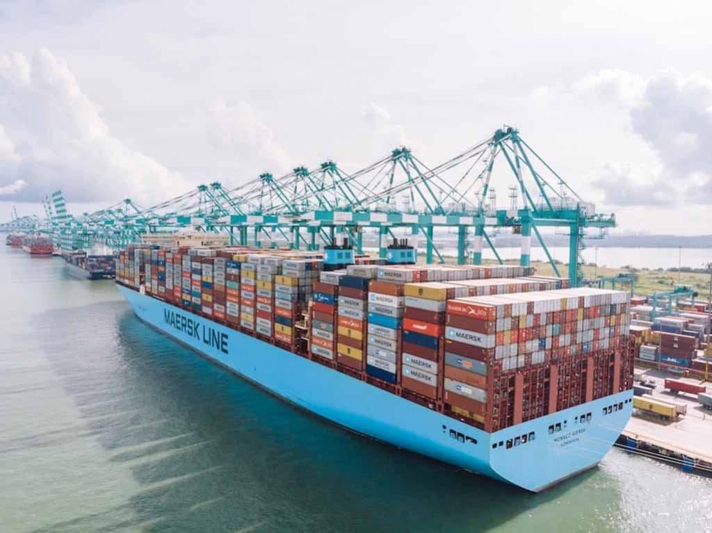 Monaco Maersk fixou um novo recorde de TEU carregados de uma só vez