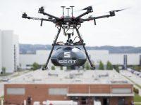 Sesé entrega componentes à Seat com drones