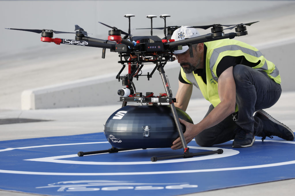 Com os drones, o tempo de abastecimento é reduzido em 80%