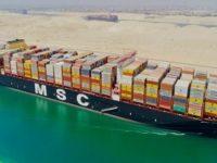 MSC Gulsun estreou-se no Canal do Suez