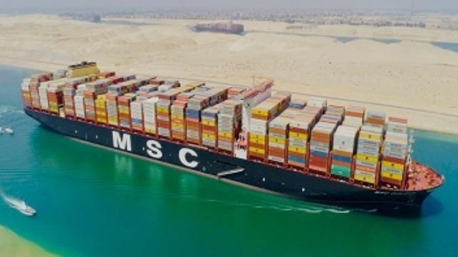 O MSC Gulsun emite 7,49 g de CO2 por ton/milha transportada