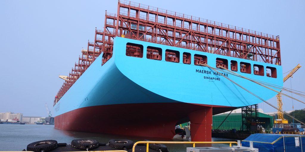 Maersk tem a maior frota de porta-contentores