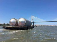 """Tejo """"transportou"""" carga de 400 toneladas"""