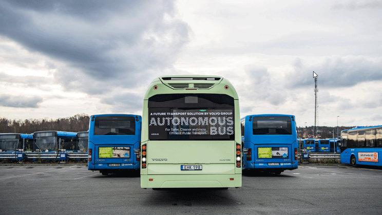Volvo demonstrou autocarro eléctrico autónomo