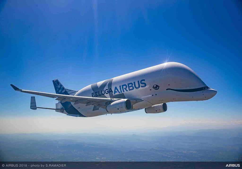 O Beluga XL pode transportar 51 toneladas a 4000 km