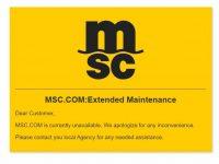 """MSC """"em manutenção"""" desde sexta-feira"""