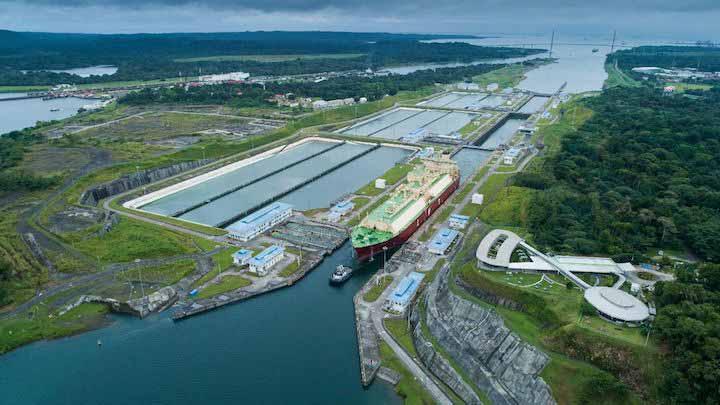 Os navios butaneiros estão entre os principais utilizadores do novo Canal do Panamá